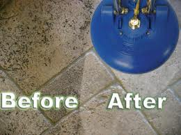 before and after of tile floor cleaning